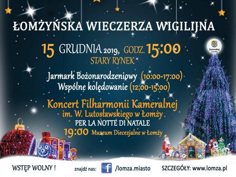 Łomżyńska Wieczerza Wigilijna 2019